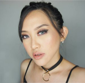 """Copper red smoky eyes  Tutorial is on my youtube channel (link is on my bio)  Products  FACE @makeupforeverid @makeupforeverofficial Ultra HD Foundation Y245 Ben Nye Neutral Set Colorless Powder Make Up For Ever Pro Finish Powder Foundation @sephoraidn Blush On """"Sweet On You"""" and """" Hey Jealousy"""" The balm Mary Lou Manizer Make Up For Ever Sculpting Kit No.2 Make Up For Ever Mist and Fix  EYES Make Up For Ever Sculpting Kit No.2 Make Up For Ever Artist Shadow I824 #BobbiBrown Eyeshadow Navy Make Up For Ever Aqua Eyes Pencil Make Up For Ever Aqua Smoky Lash #MarcJacobs Magic Marc'er  EYEBROW #AnastasiaBeverlyHills Dipbrow Pomade in Dark Brown  LIPS Make Up For Ever New Artist Rouge in Caramel Beige . . . . . . . .  #fotd#makeup#potd#eotd #wakeupandmakeup #beautyvlogger #beautyblogger #beautybloggerindonesia #smokylook#undiscovered_muas #selfie #indobeautygram#motd#motdindo #clozetter #beautygram#clozette #makeuplover #beautyjunkie #clozetteid #vegas_nay #bblog #fdbeauty #beautybloggerid #like4like #like  #youtuber"""