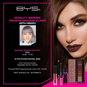 Helloww alll, please join my private makeup class with @byscosmetics_id .. RSVP now because they only have 4 limited seats.. . . Share to your friends yaaa . . #kbeauty #beautyblogger #styleblogger #vscocam #ggrep #fashionpeople #blogger #lookbook #style #ootd #fotd #ulzzang #clozetteid #bblogger #bloggerceriaid #bestoftoday #페션블로거 #페션 #페션모델 #블로거 #스트릿스타일 #샐가 #샐피 #뷰티 #스트릿록 #bys #byscosmetics