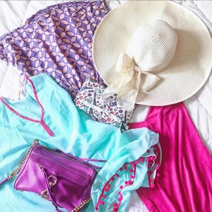 Packing for a short vacay trip in full colors! 💜💚❤️💛💙 . . . . #packingtime #vacationmode #holidaymood #flatlay #love #instacolors #beachtrip #fashionpost #instastyle #ootdid #aboutalook #outfitplanning #wiwtindo #beachstyle #wiwt #stylestalker #stylediaries #clozetteid