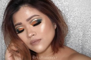 PRODUCT USED . . EYES @jeffreestarcosmetics Androgyny Palette #jeffreestarcosmetics #androgynypalette  @stilacosmetics magnificent Metals Glitter & Glow Liquid Eyeshadow *Diamond Dust #stilabalmshell #stilaglitter . . CHEEKS @lagirlindonesia Pro Contour Powder *Light #lagirlindonesia @jeffreestarcosmetics Skin Frost *King Tut #jeffreestarcosmetics #skinfrost . . LIPS @jeffreestarcosmetics Velour Liquid Lipstick *Leo
