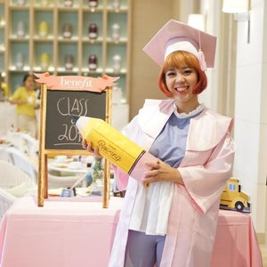 If this was really my academic robe & cap, I'd love to graduate again! (plus it matched my pink hair 😂) Feeling young again in this pinky-theme party with @benefitindonesia celebrating #boiingbacktoschoolid! There's new member in Boiing family: The New Boiing Airbrush Concealer to complete the Boiing quartet. ❤❤❤ #clozetteid #benefitindonesia #benefitcosmeticsindonesia #boiing #selfportrait #ootd #graduation #backtoschool #outfitoftheday #todayoutfit #bloggerevent #beautyblogger #bestoftheday #potd #picoftheday #photooftheday #feelingpink #pink