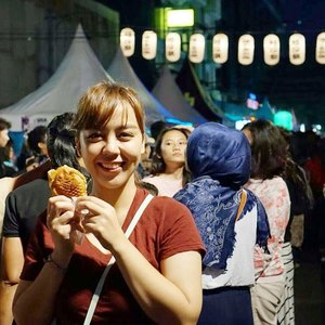 I came here just for the sake of Taiyaki & Takoyaki. 🐙  #clozetteid #food #ennichisai2017 #taiyaki #festival #photooftheday #potd #selfportrait #picoftheday #bestoftheday #omnomnom #japanesefood #japanesefestival #like4like #followme