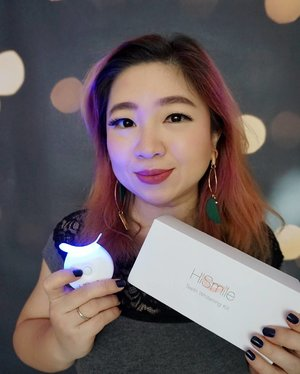 Nowadays there's many ways to whiten the teeth, simpler and still effective like the ones in the dental center. @hismileteeth kit comes with gels, mouth tray, and LED Light for 6 days application at the convenience at your own home. One kit is $59.99 USD and deliver worldwide, get yours today 😘#HiSmile #Smile #Teethwhitening @Hismileteeth #motd #ootd #bblogger #blogger #clozetteid #love #smile