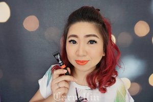 Pssst!! Let's try using bright orange color once in a while, you'll be surprise how good they might turn into.  @makeupforeverid Artist Acrylip Lip Paint in Orange.  http://whileyouonearth.blogspot.co.id/2017/12/make-up-for-ever-artist-acrylip-lip.html?m=1  #mufe #makeupremover #lippaint #acrylip #beauty #blogger #review #clozetteid #bbloger #beautybloggerindonesia #blog #love #orange #orangelipstick