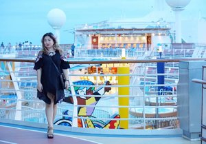 Formal dinner outfit.  One of the highlight during cruise, having that special night with your loved ones.  #cruise #ootd #motd #lotd #clozetteid #fashion #style #caribbean #royalcaribbean #dinner #familytime #love