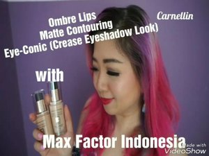 Here's a short clip of my new video, the full version is up on my youtube channelOmbre lips, matte contouring, and eye-conic crease eyeshadow look with  @maxfactorindonesia Watch the video here:https://youtu.be/rpr39CmVumo#maxfactor #MFidTopProperty #motd #ootd #beautybloggerindonesia #beautyblogger #bblogger #lotd #makeup #cosmetic #clozetteid #lookbook