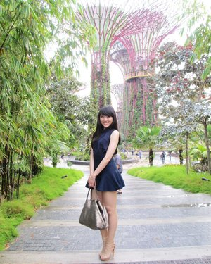 "Singapore Garden By the Bay area  Whenever i go, i will try my best to prepare the outfit... so i can still lookin at it and smile... ""my outfit is not too bad"" i dont care if people say im wearing heels and etc... It wont slowing down my walk.. trust me... :) #singapore #styleoftheday #style #stylish #ootd #outfitoftheday #ootdindo #ootdasean #lookbookbkk #lookbooklookbook #lookbookindonesia #lookbook #navyblue #indonesiafashionblogger #travelingram #traveller #clozetteambassador #clozetteid"