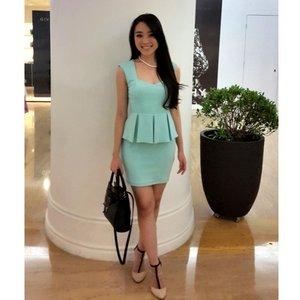 This is my outfit last #saturday wearing greenmint dress.. this is my current favorite color... do you like it on me too?#me #asiangirl #asianstyle #fashionblogger #fashionblog #fashionstyle #indonesianfashionblogger #indonesianbeautyblogger #beautybloggerindonesia #beautyblogger #clozetteambassador #clozetteid #ootd #outfitoftheday #pictureoftheday #ootdasean #ootdindo #lookbook #lookbookindonesia #peplum #dressy #longhair