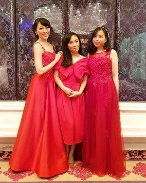 sisters in Red #red  #bridal #dress #dressy #reddress #siblings #clozetteid