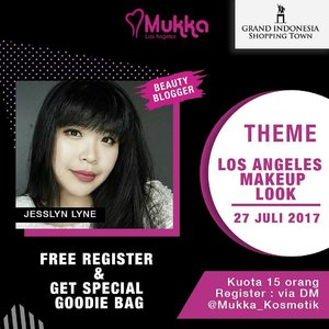 See you tomorrow girls for my Makeup Class with @mukka_kosmetik at @garudaorganizer Urban Culture Festival! *for selected participants already been announce at Mukka Instagram* . . . . #makeupclass #makeupdemo #grandindonesia #wonderfullyn #lynebeauty #makeupaddict #clozetteid #beautyinfluencers #lecture #makeuptips