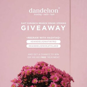 Wwooww! Kath balik dengan GIVEAWAY! So... Buruan ikutan mumpung gmpg banget niii! So far yg bs kath jamin! @dandelionwaxingid keren abis! Apapun itu!It's @dandelionwaxingid at @intro_id GRAND OPENING! Getting nails, lashes and waxing done is now closer and easier than you think!.Join me in this giveaway and get a chance to WIN IDR 500,000 FREE TREATMENT!Just repost this with #DandelionAtIntro #DandelionxKathLakz, tag @dandelionwaxingid@intro_id, and also tag 3 of your friends!.Caranya• Account must follow @dandelionwaxingid @intro_id• Account must not be private• Multiple entries allowed• Last repost by May 30th 2018 at 24:00.Winners will be announced on May 31st 2018....#dandelionatintro #dandelionxkathlakz #bloggerindonesia #lookbookindonesia #beautyguru #beautyvlogger #beautyblogger #clozetteid #bloggerstyle #fashionblogger #fashionstylea #fashionindo #indonesianbeautyblogger #indonesian_blogger #indonesiabeautyblogger #youtubeasia #youtuberindonesia #clozetteambassador #beautyindonesia #indobeautygram #giveaway #giveawaysurabaya