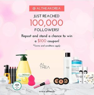 Wohoooo 🎉🎉🎉 congrats @altheakorea for #Althea100K followers. You guys work so hard to poisonous us with all Korean makeup and skincare 🤣🤣 and you did it 💪💪💪 lets me poisonous @simplybeautyme @nonahikaru and @miss_ehara too to shooping race at your place 😂 lol . . . #ClozetteID #instabeauty #indonesiablogger #indonesiabeautyblogger #bloggerBDG #bloggerlife #bloggerbandung #bloggerindonesia #beautyblog #beautyblogger #beautybloggers #beautybloggerbandung #beautybloggerindonesia #indobeautygram #bbloggers #bbloggerslife #BloggerPerempuan #like4like #follow4follow #followforfollow #likeforlike #likeforfollow #TribePost #StarClozetter #ClozetteStar #ggrep