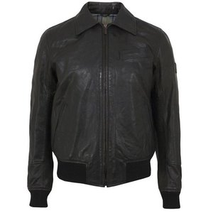 Belstaff Leather Kutum Antique Black Men Jacket