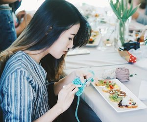 Knitting has never been this fun with @platinumgrill 😍💐 #throwback #workshop #knittingworkshop #platgrill #clozetteid