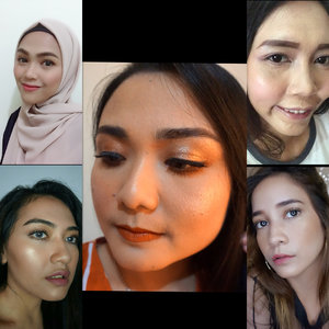 """Holaaa Summer"" this is our looks to embrace summer 🧡. Collabs with my lovely beauty enthusiast. @raniayasminyahya  @miawwmelindaa  @nurmanbo  @enoomomsen . . . If you guys interest to join make up collaboration don't hesitate to DM us 💋. . . . . . #summerlooks #makeuplover #makeupjunkie #beautybloggerindonesia #beautyenthusiast #makeupsquad #clozetteid"
