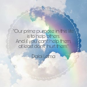 """Our prime purpose in this life is to help others. And if you can't help them, at least don't  hurt them."" – Dalai Lama . #wise #quote #dalailama . Wondering why ppl hurt anybody 😑 with their words, their actions,  or ... 😑😑😑 . #clozetteID #namaste #1111"