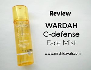 New in blog! @wardahbeauty C-defense Face Mist with orange scent. Link on bio. #wardahbeauty #CIDskincare #clozetteID #skincare #facemist #localbrand