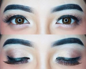 Detail mata kemarin: • Eyeshadow: Sleek iDivine Goodnight Sweetheart • Eyeliner: L'oreal Superstar • Eyebrow: NYX Eyebrow Cake Powder in Black • Eyelashes: @ratubulumata • #clozetteid #beauty #makeup #eotd #indobeautygram #beautybloggerindonesia