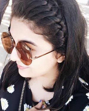 Braids and Big Round Sunnies 🕶 . . . . . . #ootd #photooftheday #fashionblogger #igers #instadaily #mumbai #indian #jakarta #love #blogger #clozetteid #midwestbloggers #instafashion #igfashion #fashiongram #bloggersuperlooks #hairstyles #braids #summer #like4like