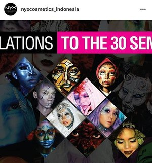 Wowwwwww ... thank you so much @nyxcosmetics_indonesia 💃🌹💃🌹💃🌹 thank you so much everyone who support me 💃🌹💃🌹💃🌹 I go to the next phase , TOP 30 at the #NyxFaceAwards2017 #FaceAwardsIndonesia 😊 😀 😃 😁 So #grateful 🙌 #iamblessed  #happy #moment #idontplaniplay #ilovemakeup #makeupismycardio #makeupart #nyx #mosaicprisoner #mosaic #makeupcompetition #clozette #clozetteid