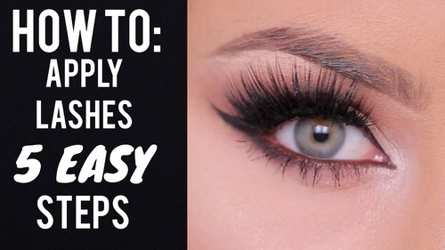 """<div class=""""photoCaption"""">HOW TO: Apply False Lashes in 5 Steps - YouTube</div>"""