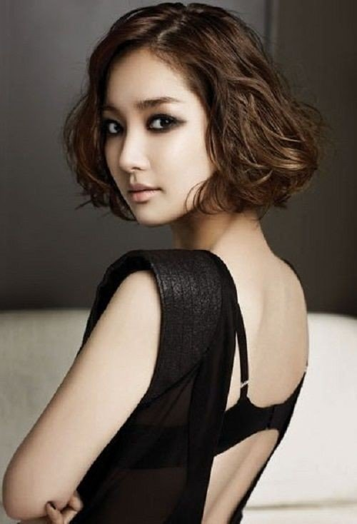 Shoulder length wavy hairstyles asian photo