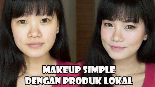 "<div class=""photoCaption"">Suka dengan tampilan natural dan seneng pake produk lokal? Nahhh bisa cobain makeup simple ini ^_^</div>"
