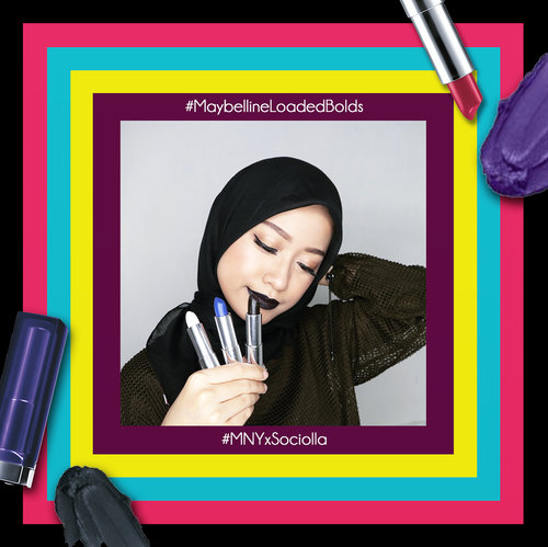"""<div class=""""photoCaption"""">[GIVEAWAY] Meet The Loaded Bolds from @maybelline! & get this lipsticks on @sociolla! Psst, don't forget to use voucher code """"SBNLANPS"""" to get disc on your purchased.I'm wearing """"02 Pitch Black"""" 😎 and it's super creamy and bold in just one swatch 💄.Simply repost this pic with hashtag  <a class=""""pink-url"""" target=""""_blank"""" href=""""http://m.id.clozette.co/search/query?term=mnyxsociolla&siteseach=Submit"""">#mnyxsociolla</a>  <a class=""""pink-url"""" target=""""_blank"""" href=""""http://m.id.clozette.co/search/query?term=MaybellineLoadedBolds&siteseach=Submit"""">#MaybellineLoadedBolds</a>  <a class=""""pink-url"""" target=""""_blank"""" href=""""http://m.id.clozette.co/search/query?term=maybellineindonesia&siteseach=Submit"""">#maybellineindonesia</a> and I will pick 1 person to win 2 lipsticks..... <a class=""""pink-url"""" target=""""_blank"""" href=""""http://m.id.clozette.co/search/query?term=clozetteid&siteseach=Submit"""">#clozetteid</a>  <a class=""""pink-url"""" target=""""_blank"""" href=""""http://m.id.clozette.co/search/query?term=ootd&siteseach=Submit"""">#ootd</a>  <a class=""""pink-url"""" target=""""_blank"""" href=""""http://m.id.clozette.co/search/query?term=beauty&siteseach=Submit"""">#beauty</a>  <a class=""""pink-url"""" target=""""_blank"""" href=""""http://m.id.clozette.co/search/query?term=indobeautygram&siteseach=Submit"""">#indobeautygram</a>  <a class=""""pink-url"""" target=""""_blank"""" href=""""http://m.id.clozette.co/search/query?term=beautyblogger&siteseach=Submit"""">#beautyblogger</a>  <a class=""""pink-url"""" target=""""_blank"""" href=""""http://m.id.clozette.co/search/query?term=beautynesiamember&siteseach=Submit"""">#beautynesiamember</a>  <a class=""""pink-url"""" target=""""_blank"""" href=""""http://m.id.clozette.co/search/query?term=dailymakeup&siteseach=Submit"""">#dailymakeup</a>  <a class=""""pink-url"""" target=""""_blank"""" href=""""http://m.id.clozette.co/search/query?term=blogger&siteseach=Submit"""">#blogger</a>  <a class=""""pink-url"""" target=""""_blank"""" href=""""http://m.id.clozette.co/search/query?term=indonesianbeautyblogger&siteseach=Submit"""">#indonesianbeautyblogger</a>  <a cla"""