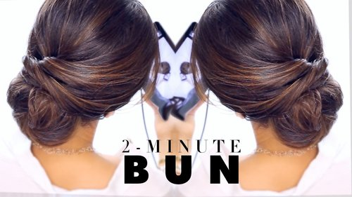 "<div class=""photoCaption"">2-Minute Elegant BUN Hairstyle  ★ EASY Updo Hairstyles - YouTube</div>"