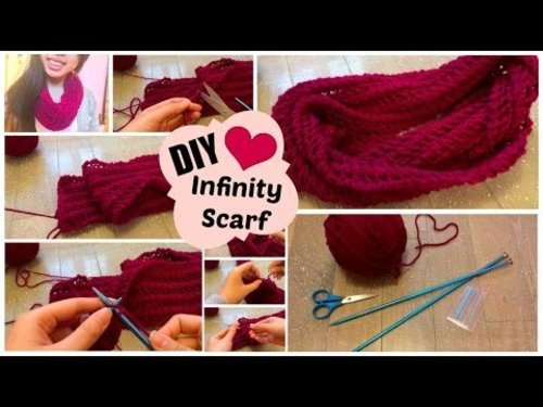 "<div class=""photoCaption"">♡ DIY Infinity Scarf // Easy Knit Pattern for Beginners 