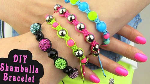 "<div class=""photoCaption"">DIY Shamballa Bracelet! How To Make Macrame Bracelets - YouTube</div>"