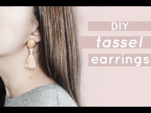 "<div class=""photoCaption"">DIY Tassel Earrings 