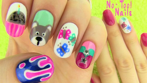 "<div class=""photoCaption"">Nails Without Nail Art Tools! 5 Nail Art Designs! - YouTube</div>"