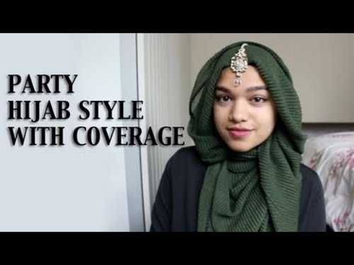 "<div class=""photoCaption"">Party Hijab Tutorial With Coverage and Crinkle Scarf - YouTube</div>"