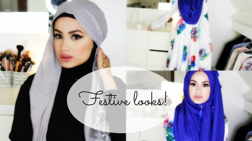 "<div class=""photoCaption"">Hijab Tutorial and Looks for Festive Occasions! - YouTube</div>"