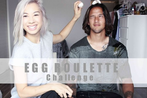 "<div class=""photoCaption"">EGG ROULETTE CHALLENGE  <a class=""pink-url"" target=""_blank"" href=""http://m.id.clozette.co/search/query?term=teamBachdim&siteseach=Submit"">#teamBachdim</a> + OUTTAKES - YouTube<br /> <br /> Something new if you didn't saw it yet! We expand to  <a class=""pink-url"" target=""_blank"" href=""http://m.id.clozette.co/search/query?term=youtube&siteseach=Submit"">#youtube</a> and started our first Challenge's. <br /> Let me know how you like it :)</div>"