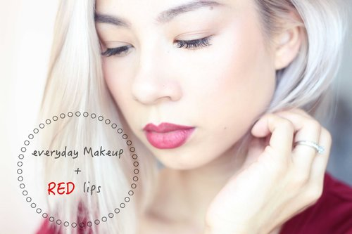 "<div class=""photoCaption"">TUTORIAL : EVERYDAY MAKEUP  WITH RED LIPS - YouTube</div>"