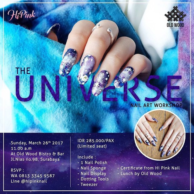 THE UNIVERSE NAIL ART WORKSHOP With @hi.pink.nail You will learn how ...