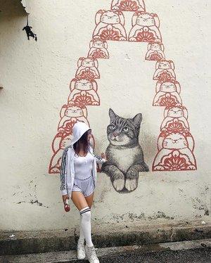CAT ME🐀 . #penang #georgetown #malaysia #cat #murals