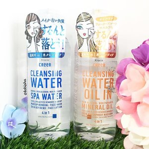 💦New Makeup Removal for the new week! 💙CReeR Cleansing Water 💛Cleansing Water (Oil in). Both Cleansing Water are 4-in-1 makeup remover. ✨Light yet high performance driven, it dissolves makeup, exfoliate, cleanse and moisturizes the skin with no rinse required. ✨Paraben-free, alcohol-free and sting-free, formulated with Makeup Catching Micelles x Negative Ion and Japan Shimane Prefecture. 💧Hot Spring Water promises to dissolve your makeup so gently and thorough it leaves no streak behind! ✨Available at all @sasasingapore #BHG stores and @beautycarousel for $13.90/bottle. Will share my reviews after I've tried it out. #creercleansingwater #comecleanwithcreer #beauty #skincare #creer #makeupremover #clozette #jbeauty #japanbeauty #kracie