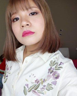Slaying today #motd with @shuuemura rouge matte lipstick 👄  #clozette #abcommunity #kbeautyblogger #makeupporn #makeupgeek #100daysofmakeup #makeuptalk #lfl #likeforfollow #shuuemura #rougematte #nyx