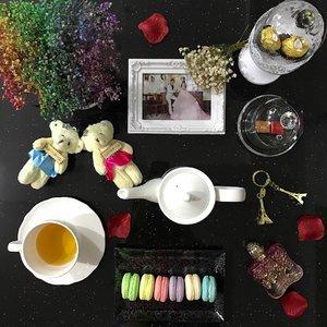 Sweet treats for today's teatime.  #sgmacarons #macarons #annasui #romantica #chocolates #teatime