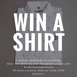 Reposting 📱  We're surely spreading the sweetness of #summer with our #giveaway. Win a @rodesmanila shirt today! ⚓️ Mechanics: 1. Follow @rodesmanila on Instagram 2. Share this photo and mechanics, and use #rodesmanilagiveaway 3. We will draw 1 lucky winner once we reach 2,500 followers here on Instagram.  #repost #giveawayph #fashion #style #ootd #vscocam #vscoph #igers #igersmanila #blogger #bloggerph #mommydiaries #mommyblogger #teamshirubi #clozette 👑