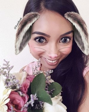 💐🐰Thank you @abetterflorist for having me at your Flower Arrangement Workshop held last week, I'm a happy bunny.  In case you've missed the review.  https://lovebellavida.com/2017/06/27/flower-arrangement-workshop-with-a-better-florist/  #abetterflorist #snapchatfilter #snapchatbunny #snapchatbr #flowerarrangement #flowerdaily #review #ontheblog #clozette #starclozetter #clozettebloggerbabes #beautyblogger #bblogger #fashionblogger #fblogger #lifestyleblogger #lblogger #sgblogger #sgfashionblogger #influencersg #sglife #sglifestyle #igsg