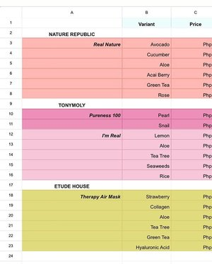 Real addiction guys. I just made this spreadsheet to keep track of my mask stash and I have a list of AB items on my notepad that I wan't to try out and make a separate sheet. Nerdy, I know 😊 Would you like to know what's on my Wishlist? 😂 #skincare #sheetmasks #sheetfaced #koreanskincare #skincarediary #skincareroutine #skincareaddict #skincarejunkie #igbloggerph #koreanbeauty #asianbeauty #kbeauty #mua #beautyblogger #beautybloggers #bblog #kpop #korea #bblogger #bbloggers #bbloggersph #seoul #rasianbeauty #productreview #clozette