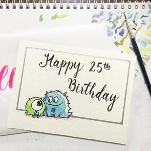 MONSTERINC. #illustration #drawing #clozette #calligraphy #calligraphypractice #moderncalligraphy #calligraphysg #typography #lettering #handlettered #handlettering #handletter #typographie #brushcalligraphy #handwritten #typematters #brushlettering #typelove #igsg #thedailytype #artoftype #igersingapore #vscosg #typespire #handletteredabcs  #igersingapore #reallipstickused #lippie #watercolor #watercolorart #watercolorpainting
