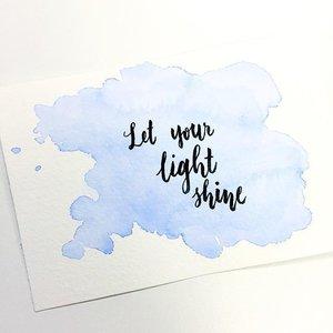 Let your light shine ✨ #dndchallenge #clozette #calligraphy #calligraphypractice #moderncalligraphy #calligraphysg #typography #lettering #handlettered #handlettering #handletter #typographie #brushcalligraphy #handwritten #typematters #brushlettering #typelove #igers #igsg #thedailytype #artoftype #igersingapore #vscosg #vscocamsg #typespire #handletteredabcs