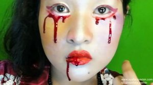 Anyone still tak tidur. HERE IS My 1st attempt : Teary Bloody Geisha.. trying to escape but.. ended with suffering from the inside.. Created with @nyxcosmetics_my @nyxcosmetics and several brands.. for #faceawards #faceawardsmy #nyxcosmesticsmy #nyxprofessionalmakeup #makeupartist . . . .. #contest #like4like #comment4comment #syafierayamincom #blogger #iger #igermalaysia #BeautyBlogger  #Malaysianblogger #lifestyleblogger #lovetheraphy #art #artist #youtuber #clozette #mommyblogger #ClozetteBloggerBabes  #ShopMyEnvicase