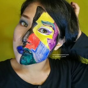 Geometric leftover.  How do I remove this on my face.. stay tuned.. #geomatricpainting  #geometric #facepainter  #suameiprofessionalmakeup . . . . .. #contest #like4like #comment4comment #syafierayamincom #blogger #iger #igermalaysia #BeautyBlogger  #Malaysianblogger #lifestyleblogger #lovetheraphy #art #artist #youtuber #clozette #mommyblogger #ClozetteBloggerBabes  #ShopMyEnvicase