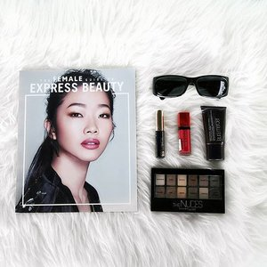 This #femalebeautybook is a staple for all #beauty lovers out there! Especially for those who wants to look effortless chic! @femalemag#clozette #beauty #flatlay #chic #city #makeup #lifestyle #trending #instabook #bookstagram #maybelline @maybelline #esteelauder #bourjois @bourjoismy #lauramercier #dkny @dkny #fashion #fashionista #style #htbloggers #bloggers #instakl #malaysia #igkl
